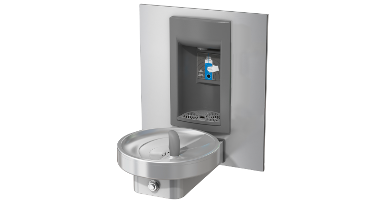 Unchilled Drinking Fountain Combination: KEM140R-SBF-STN - Franke